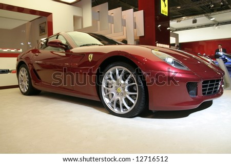 ferrari 599 gtb fiorano at Paris auto show
