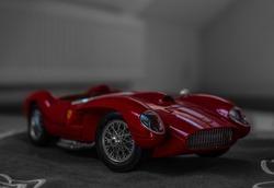 Ferrari model car in selective color