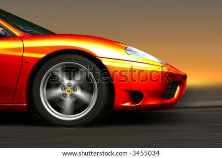 Ferrari Sunburst racer