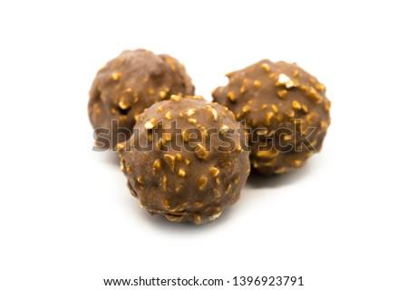 Ferrero Rocher premium chocolate sweets on white background. - Image Photo stock ©