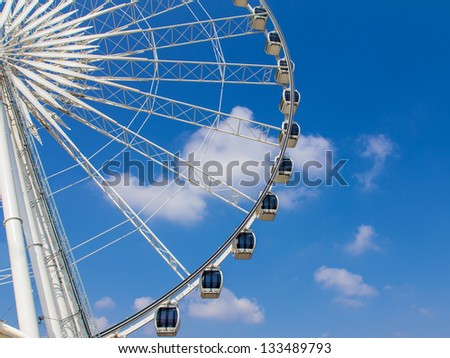 Ferris wheel and beautiful blue sky