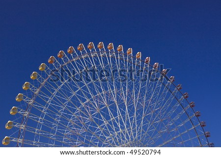 Ferris wheel and the blue sky