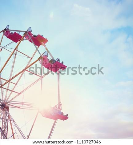 Ferris wheel at a county fair.