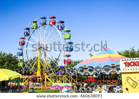 Ferris Wheel at local County Fair Photo stock ©
