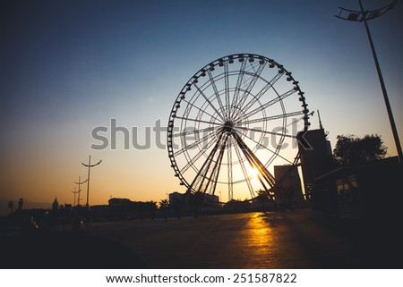 Ferris wheel at sunset, Georgia, Batumi #251587822
