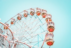 ferris wheel background      objects, background