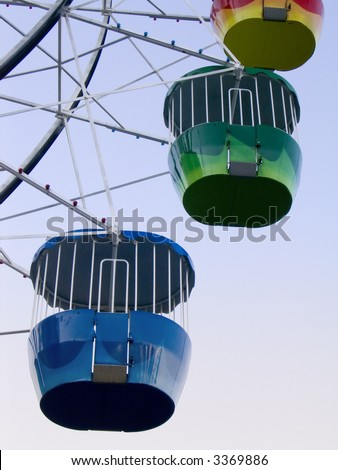Ferris wheel close-up at Luna Park, Sydney