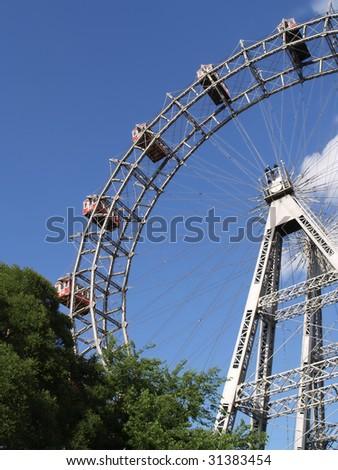 ferris wheel - famous prater amusement park,vienna