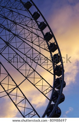 Ferris Wheel in the evening