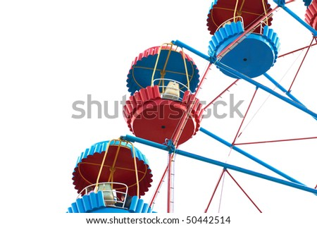 Ferris wheel isolated on the white background