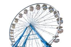 Ferris wheel isolated on white background
