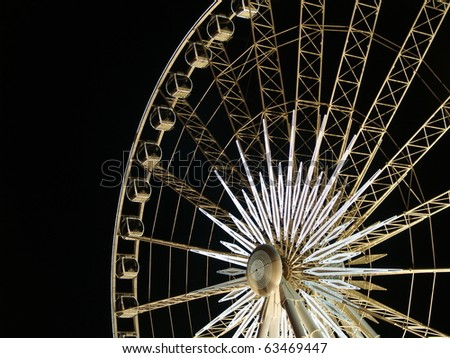 Ferris wheel lit up in  Niagara Falls, Ontario, Canada.