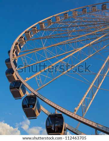 Ferris wheel near sunset