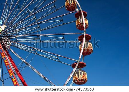 ferris wheel on a sunny day - stock photo