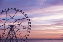 Ferris Wheel on a sunset backdrop