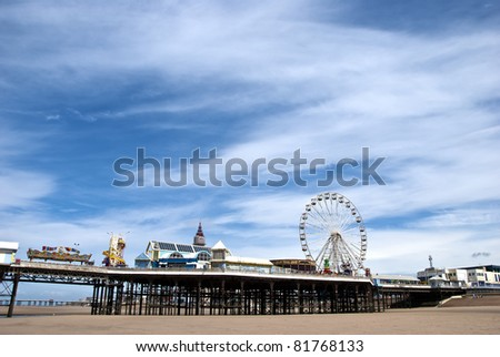 Ferris Wheel on Central Pier Blackpool under a summer sky
