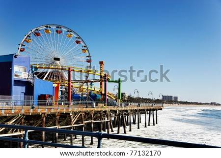 Ferris wheel on Santa Monica Pier, Los Angeles