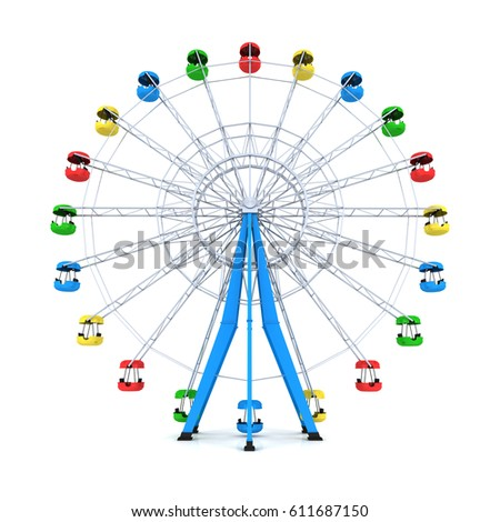ferris wheel on white...