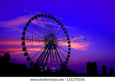 Ferris wheel Sunset.
