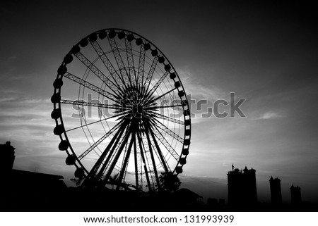Ferris wheel Sunset. #131993939