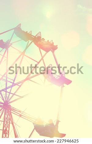 Ferris Wheel with Instagram vintage filter #227946625