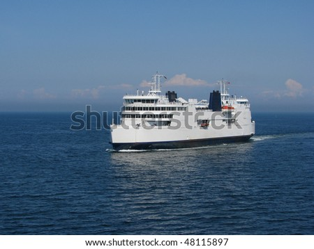 ferryboat in the sea