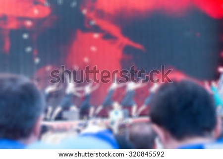 Festival concert show theme creative abstract blur background with bokeh effect #320845592