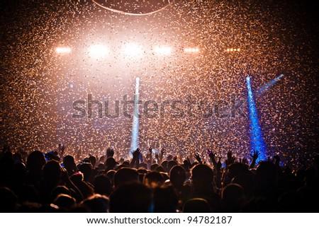 Festival Crowd Confetti Explosion