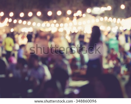 Shutterstock Festival Event Party with People Blurred Background