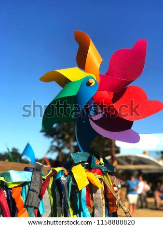Festival pinwheel and tassels #1158888820