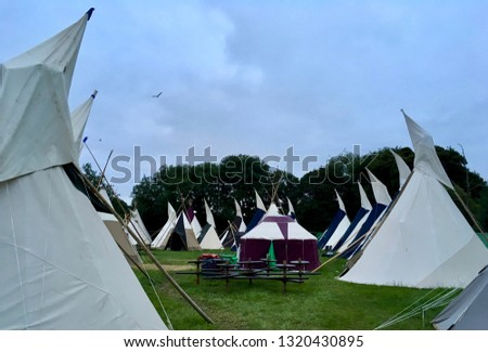 Festival tent teepees  #1320430895
