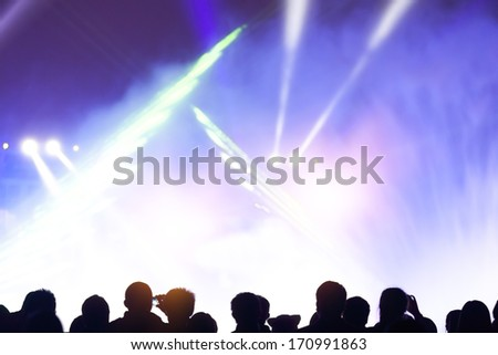 festivals, outdoor stage lighting and people