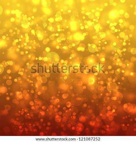 Festive background. Christmas and New Year feast golden colors bokeh background