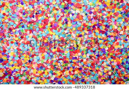 festive background of confetti #489337318