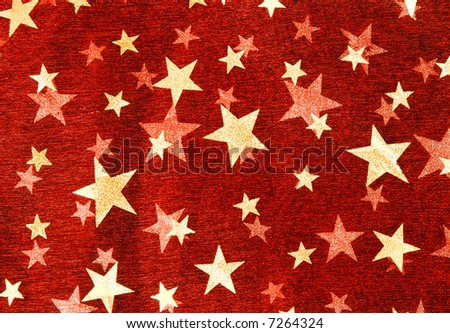Festive background with stars in red color