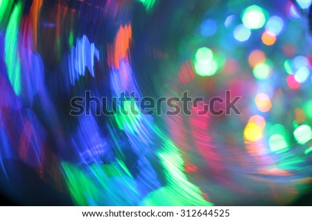 festive carousel colored flares/background multicolored Christmas light extravaganza festive lights