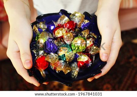 festive chocolate plate. Ramazan holiday chocolate. şeker bayramı. bayram şekeri . bayram çikolatası. ramazan bayramı. bayramlaşma. şeker bayramı. kurban bayramı candy . müslüman. dini bayram. müslim