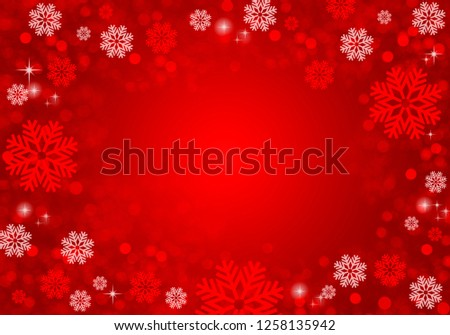 Festive christmas background with snowflakes, glitter and lights #1258135942