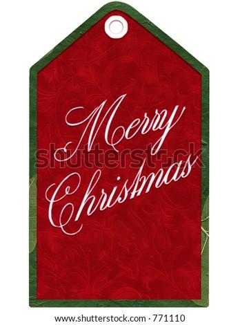 Festive Christmas tag.