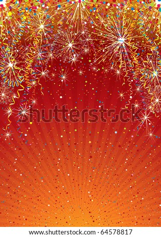 Festive colorful background template