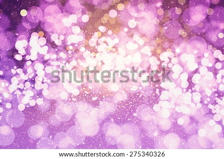 Festive elegant abstract background with bokeh lights and stars #275340326