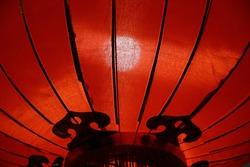 Festive lantern for Chinese New Year celebration. Decoration, illumination and lighting for holiday event.