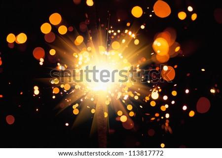 festive light background - stock photo