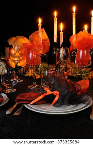 Festive table decoration for Halloween #373355884