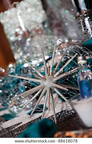 Festive Winter Party Decor for a holiday party