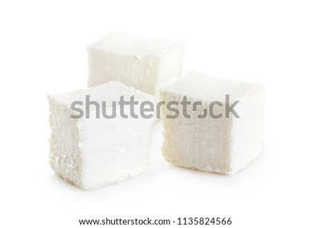 Feta cheese isolated on white background. With clipping path.