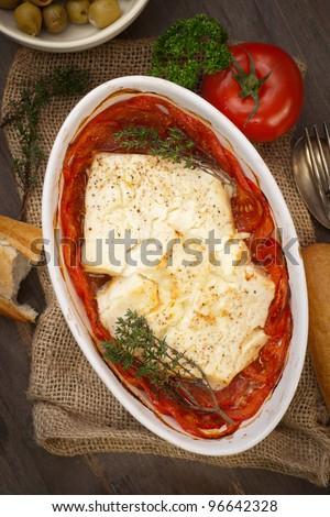 Feta, tomatoes