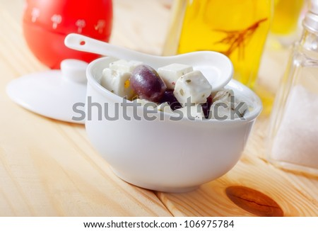 feta with black cheese
