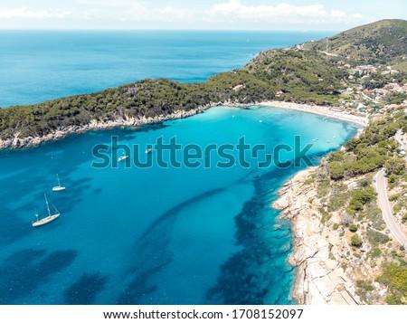 Fetovaia becah in elba island Foto stock ©