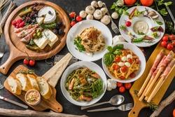 Fettuccine pasta Italian cuisine